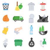 Garbage icons set.