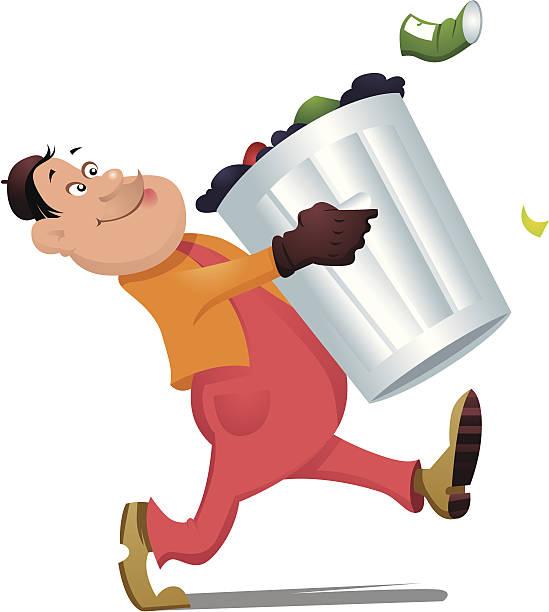 Garbage Man Vector Art Illustration
