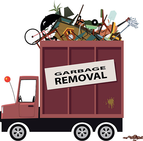 Vector E Sanitary Service : Royalty free garbage collection clip art vector images