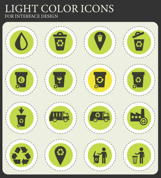 müll einfach icons - altglas stock-grafiken, -clipart, -cartoons und -symbole