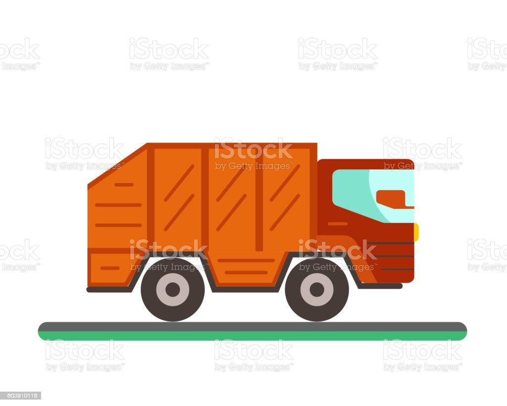 Garbage sorting flat concept. vector art illustration