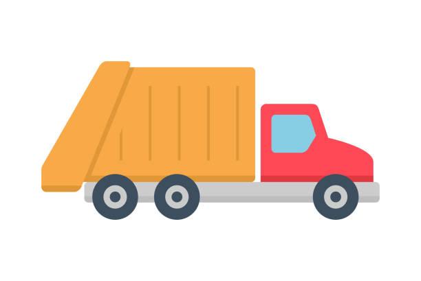Garbage Truck Icon Vector Art Illustration