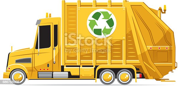 istock Garbage truck 686756056