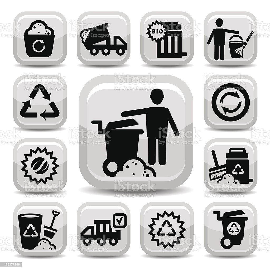 garbage vector icons royalty-free stock vector art