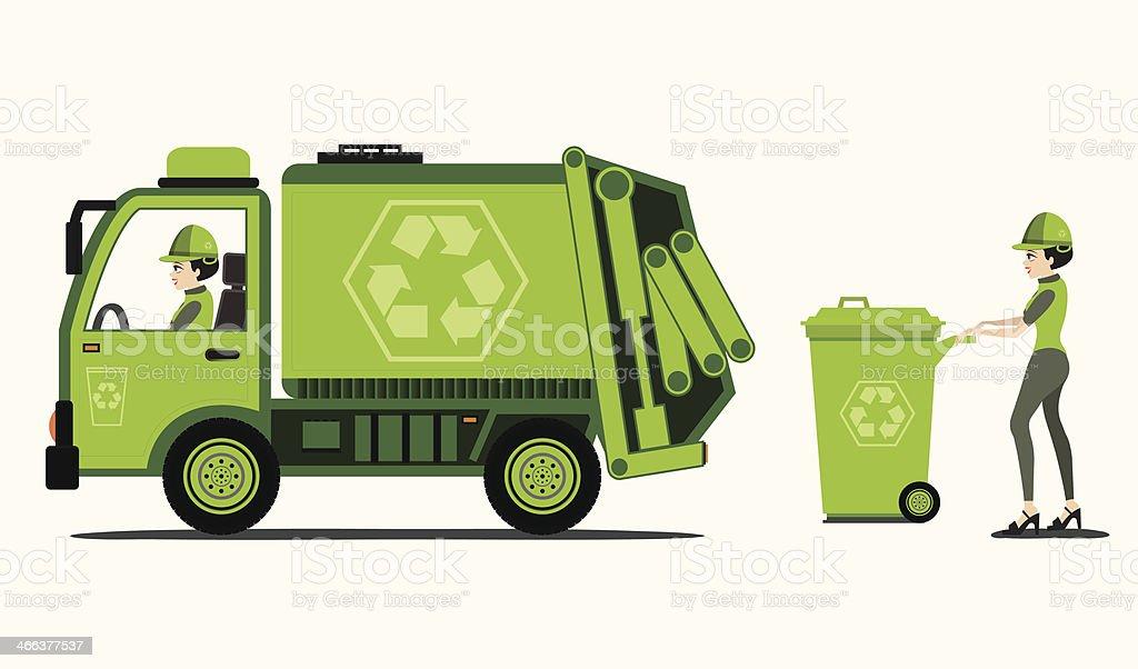 royalty free sanitation worker clip art vector images rh istockphoto com garbage truck clip art free trash truck clip art