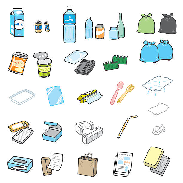 garbage vector art illustration