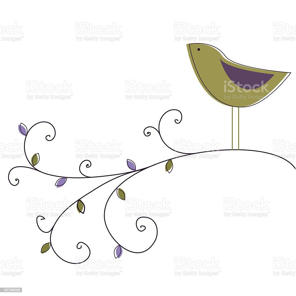 Garden bird - Royalty-free Backgrounds stock vector