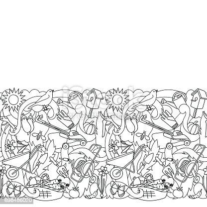istock Jardín colorido de patrones sin fisuras 698485290 istock ...