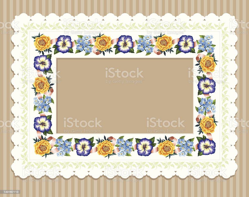 Garden Flower Frame royalty-free stock vector art