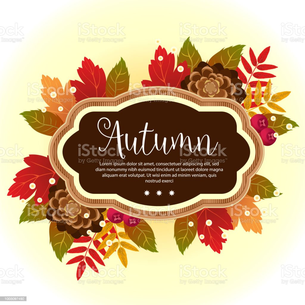 Garden Foliage Template Autumn Stock Vector Art & More Images of ...
