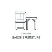 Garden furniture logotype design templates. Modern easy to edit logo template. Vector logo design series.
