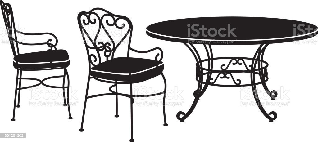 Garden furniture. Two chairs and table royalty-free garden furniture two chairs and table  sc 1 st  iStock & Garden Furniture Two Chairs And Table Stock Vector Art u0026 More Images ...