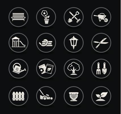 Garden & Gardening Icons | Black