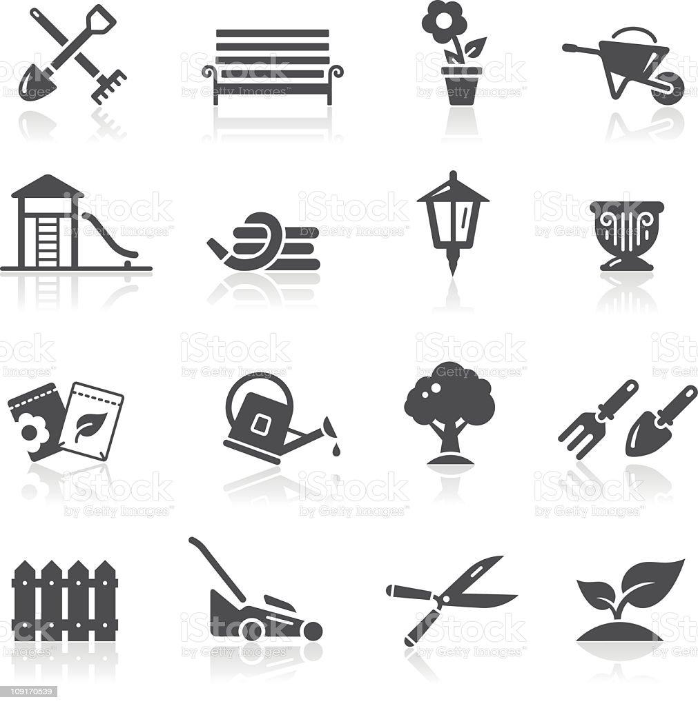 Garden & Gardening Icons royalty-free stock vector art