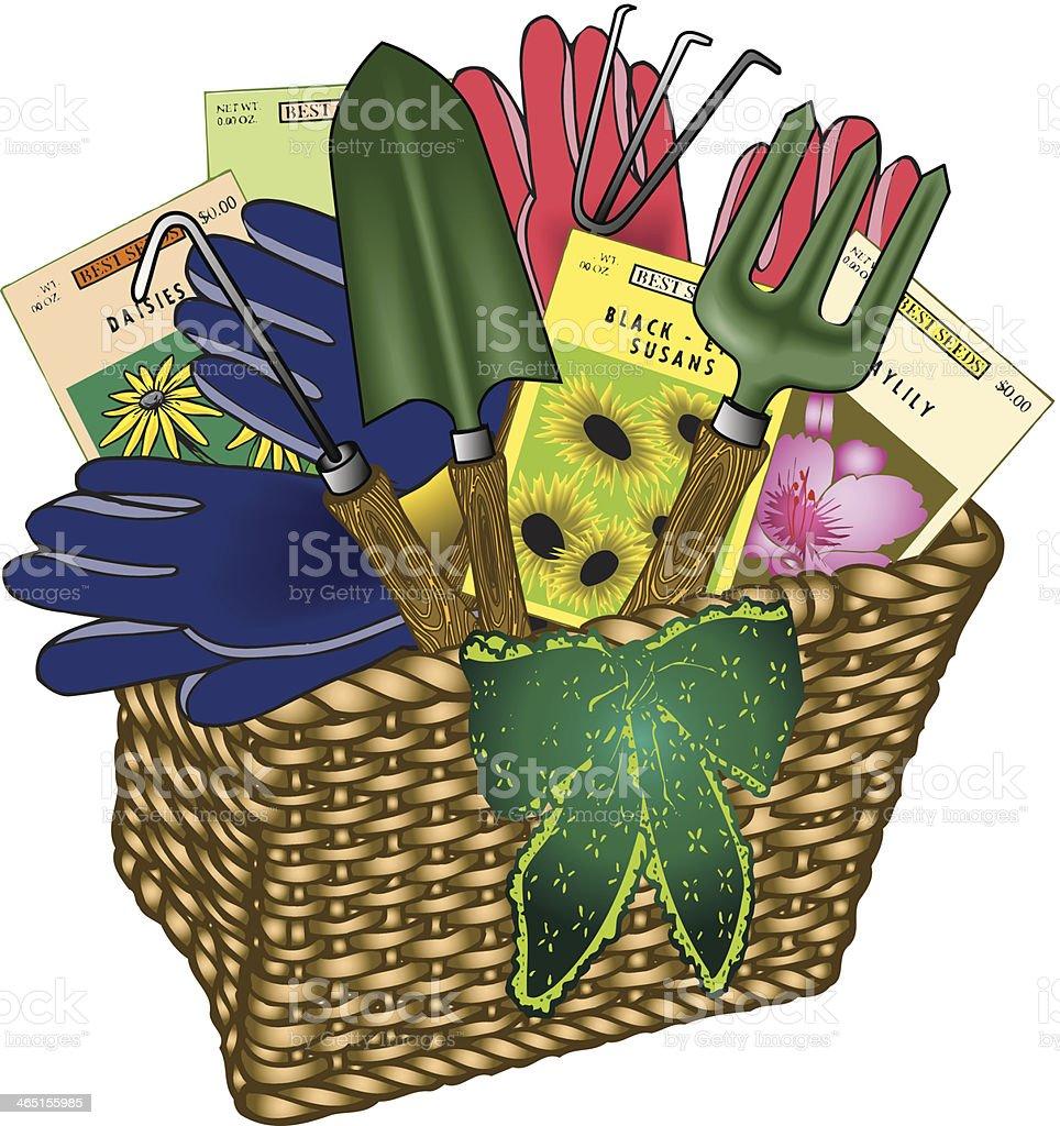 Garden Gift Basket C vector art illustration