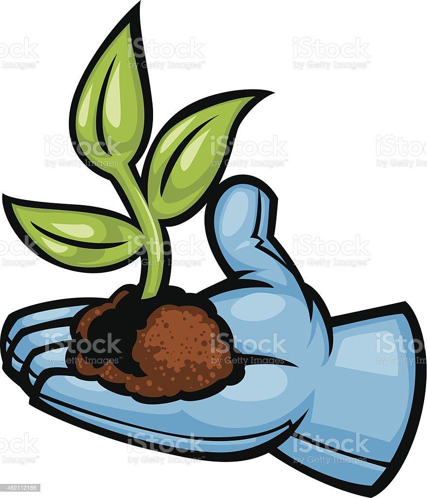 garden glove plant vector art illustration