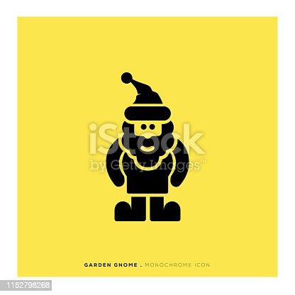 istock Garden Gnome Icon 1152798268
