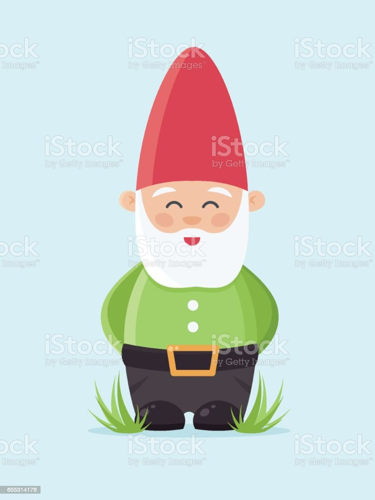 royalty free garden gnome clip art vector images illustrations rh istockphoto com gnome clipart png garden gnome clipart free