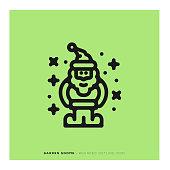 istock Garden Gnome Rounded Line Icon 1090907430