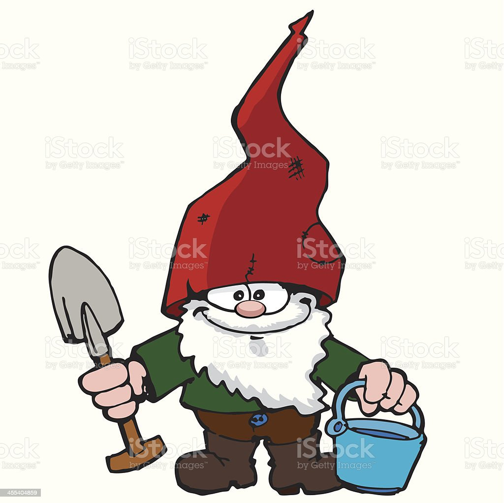 Garden Gnome vector art illustration