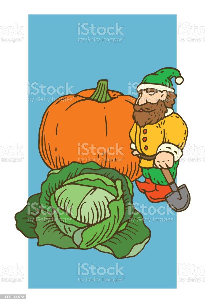 Nain De Jardin Avec Des Légumes Vecteurs libres de droits et ...