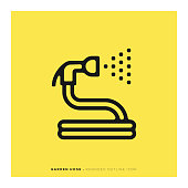 istock Garden Hose Rounded Line Icon 1090908114