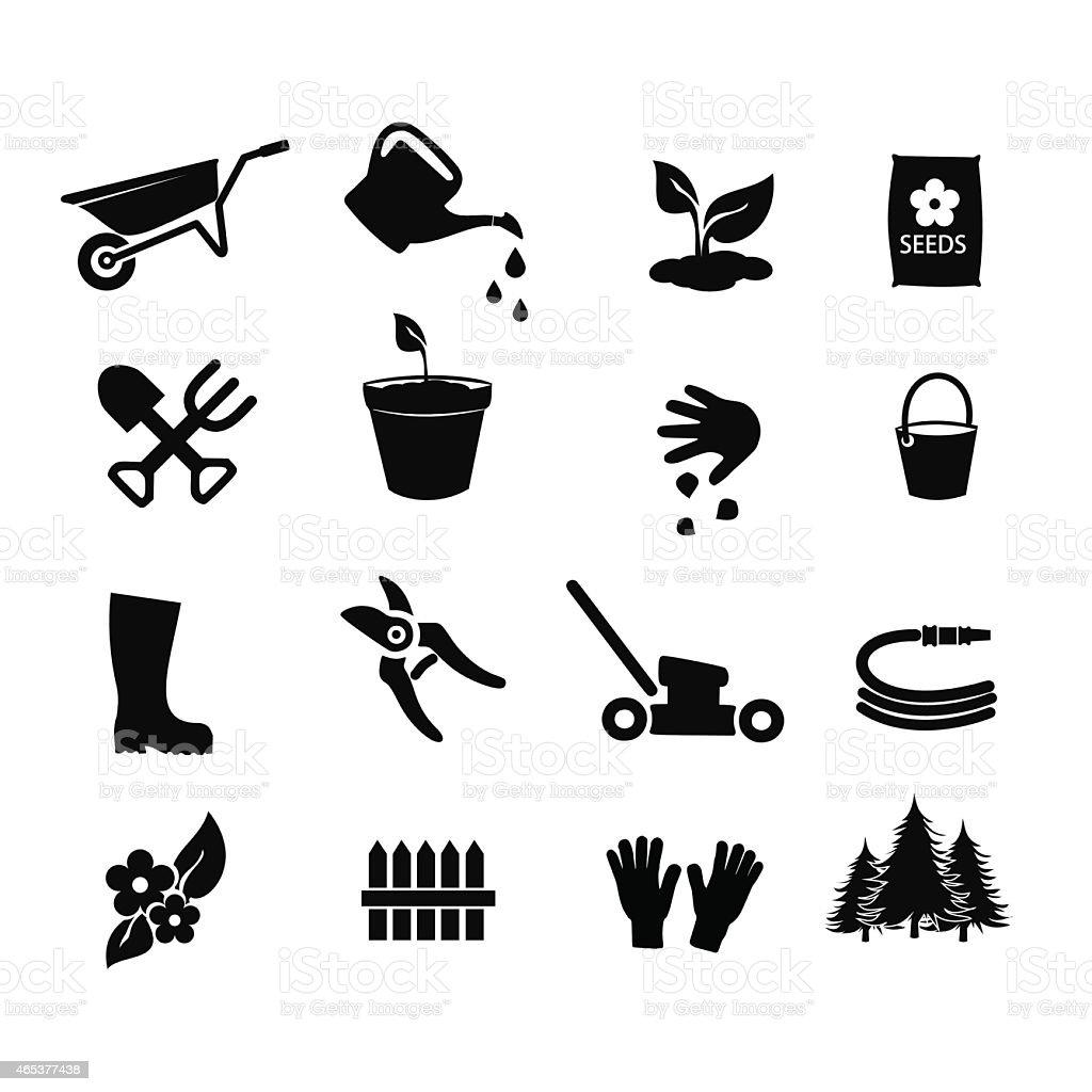 Garden icon set vector illustration vector art illustration