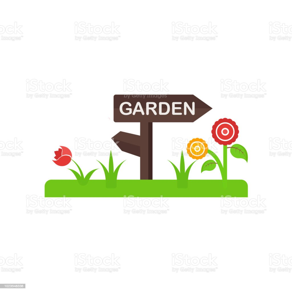 Garden Icon Vector Sign And Symbol Isolated On White