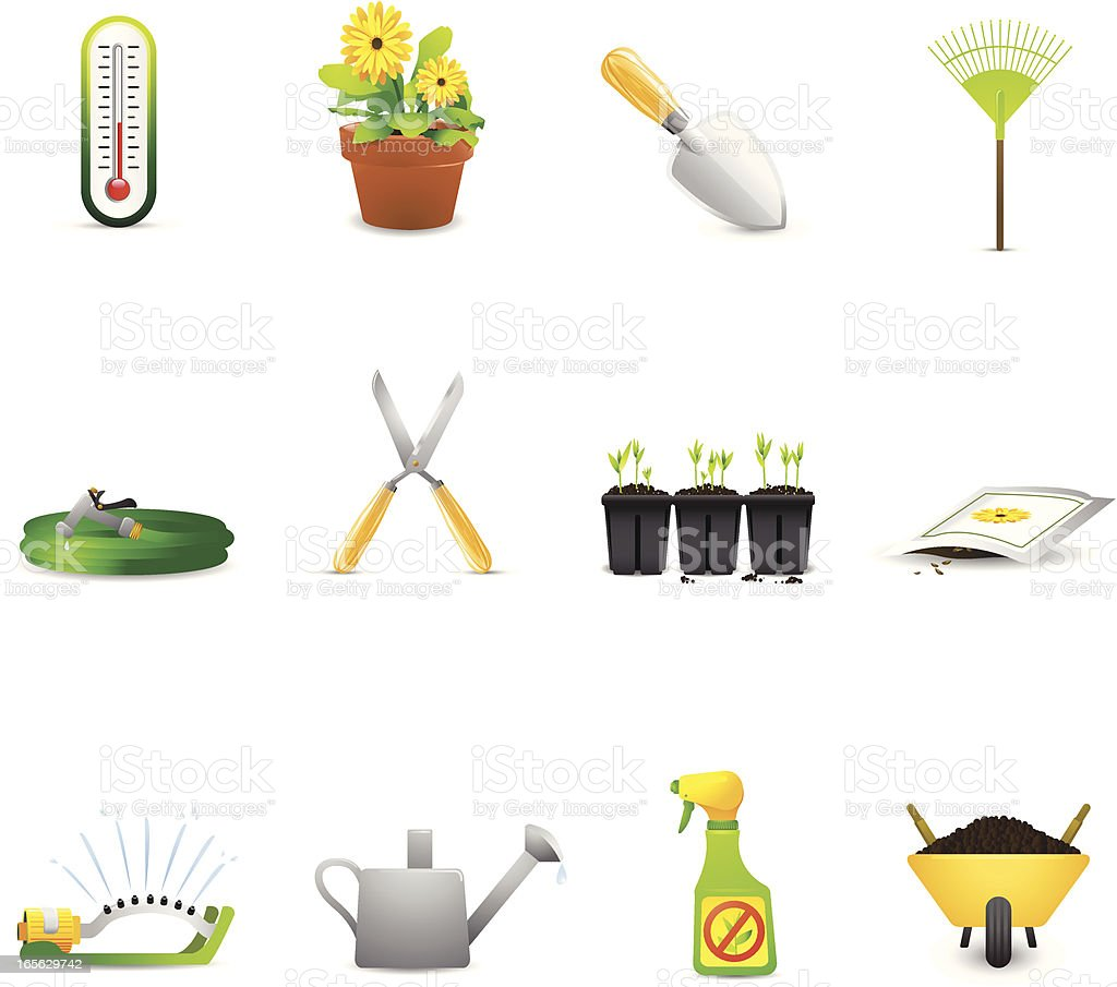 Garden Icons royalty-free garden icons stock vector art & more images of container