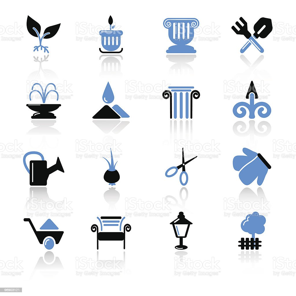 garden icons royalty-free garden icons stock vector art & more images of bench