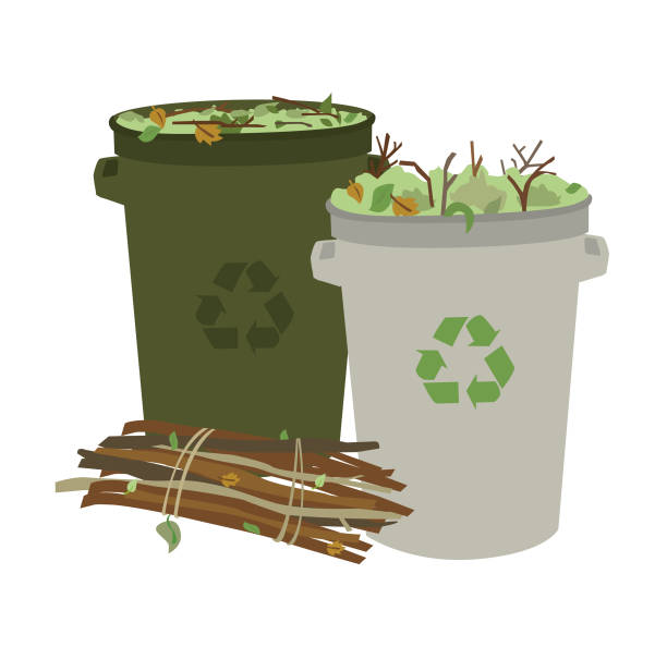 ilustraciones, imágenes clip art, dibujos animados e iconos de stock de residuos de jardín o patio - backyard