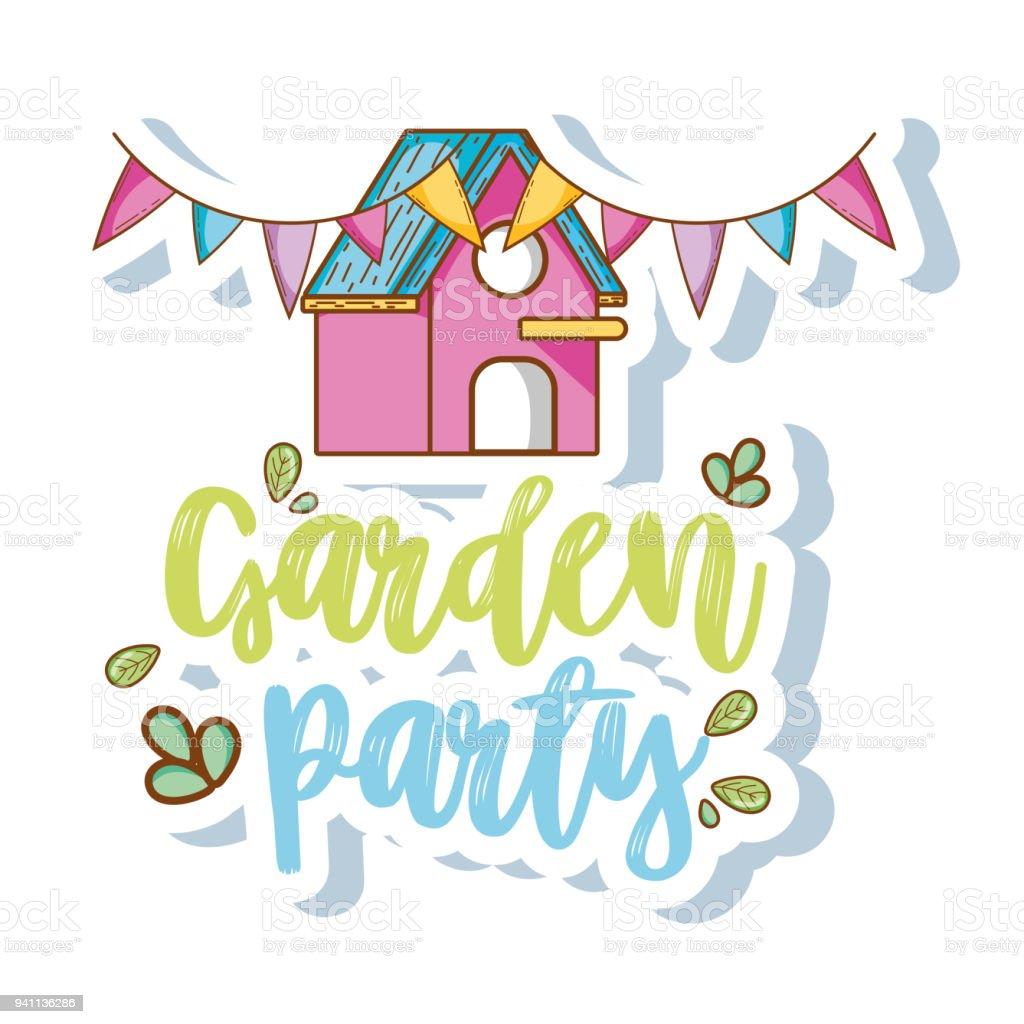ガーデン パーティーの漫画 お祝いのベクターアート素材や画像を多数ご