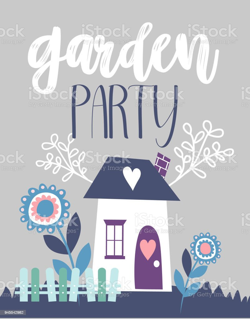 Garden party invitation card stock vector art more images of garden party invitation card royalty free garden party invitation card stock vector art amp stopboris Choice Image