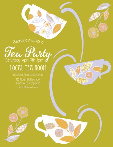 Best Tea Parties Illustrations, Royalty-Free Vector Graphics