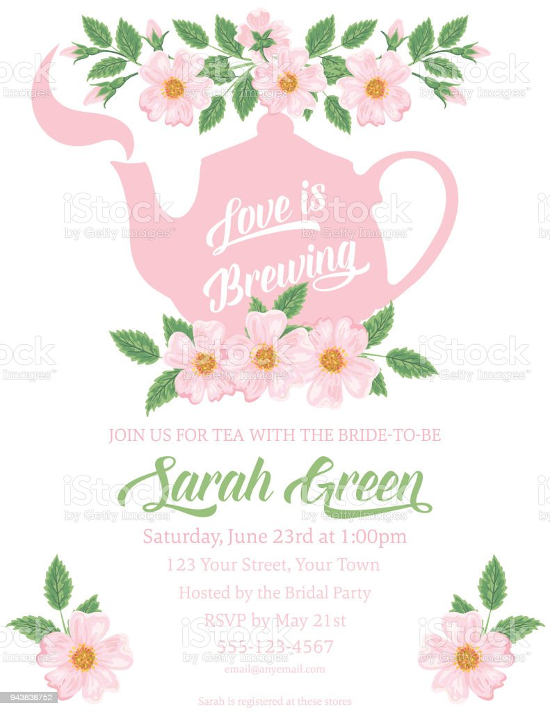 Garden party tea bridal shower invitation template stock vector art garden party tea bridal shower invitation template royalty free garden party tea bridal shower invitation filmwisefo