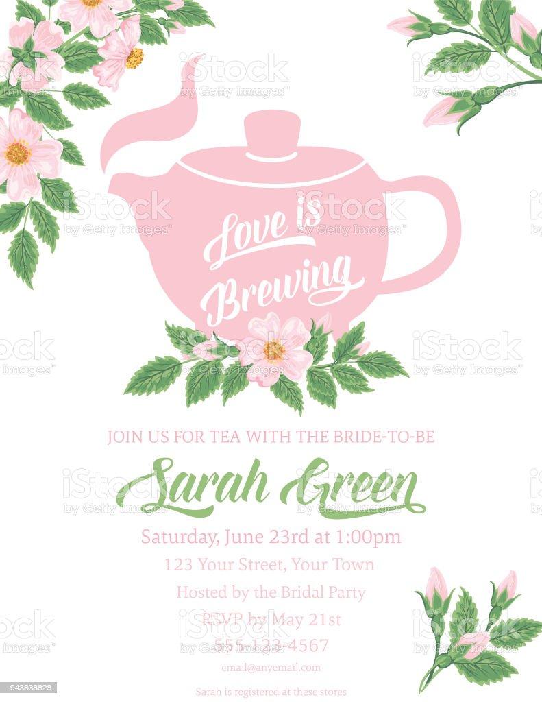 b9d964f1c7b Garden Party Tea Bridal Shower Invitation Template royalty-free garden  party tea bridal shower invitation