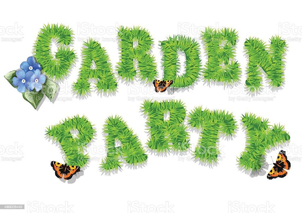 garden party vector art illustration