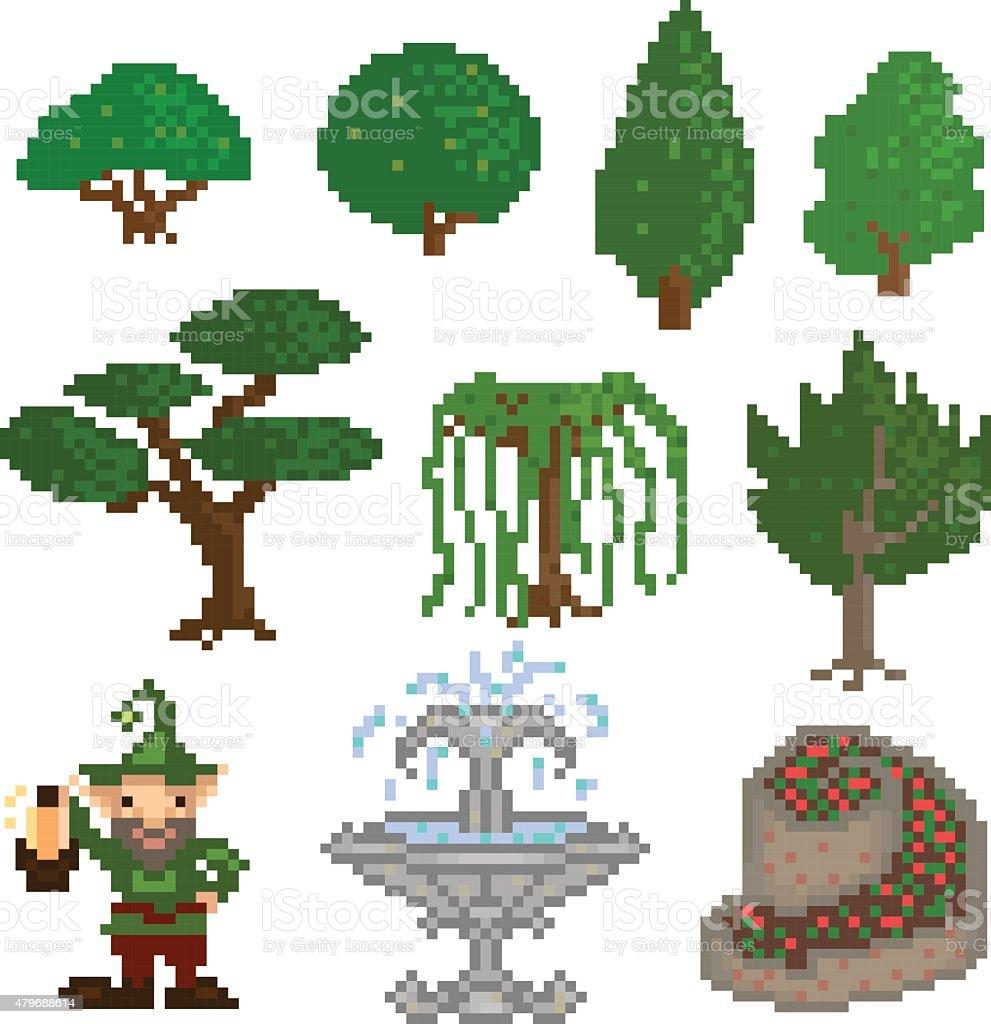 Garden Pixelart Stock Illustration Download Image Now Istock