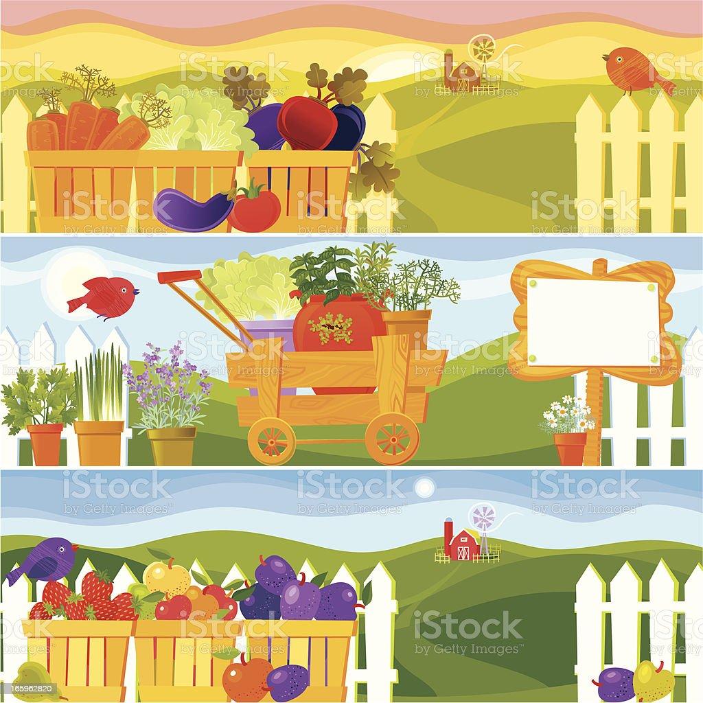 Garden Season Banners royalty-free stock vector art