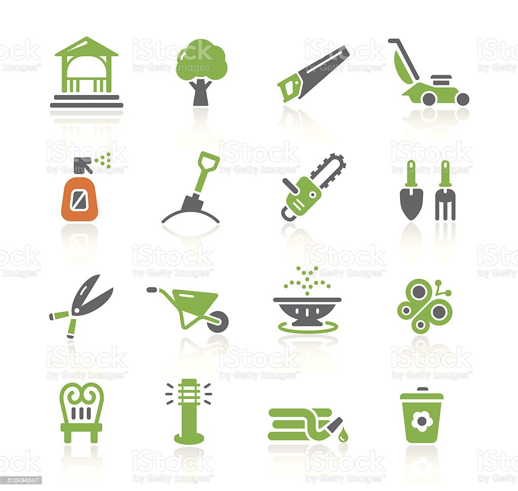 Garden Tools & Furniture Icons | Spring Series vector art illustration