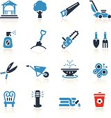 Garden Tools & Furniture Icons- Two Colors | Pro Series