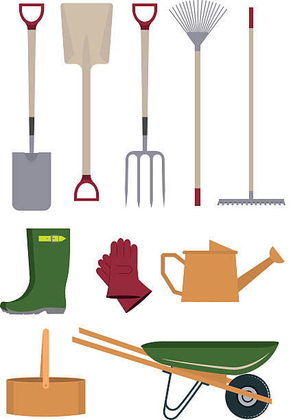 Royalty free gardening gloves clip art vector images for Gardening tools clipart