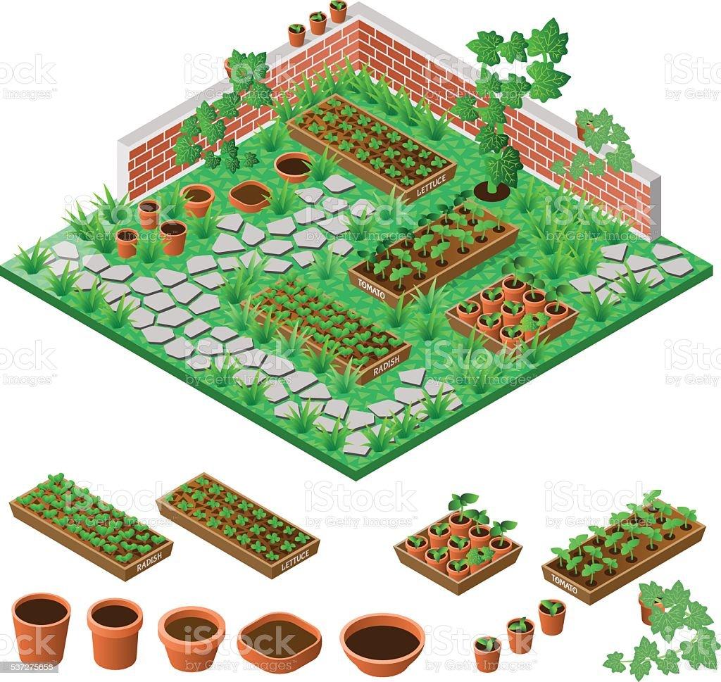 ガーデン ベクターアートイラスト