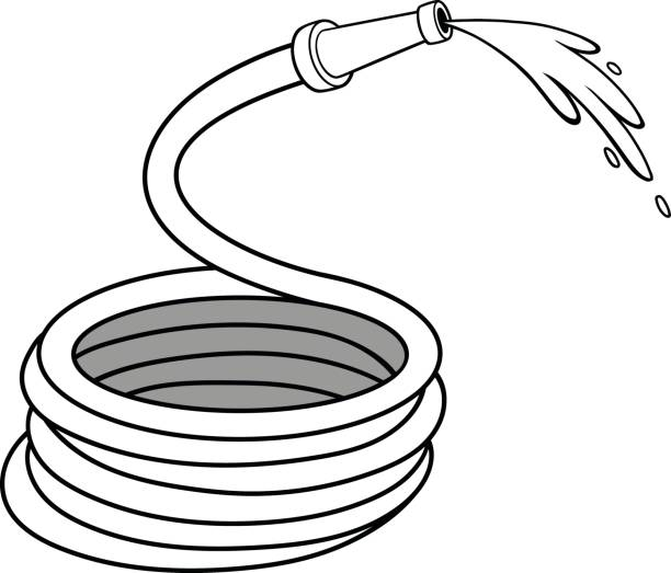Water Hose Illustrations Royalty Free Vector Graphics