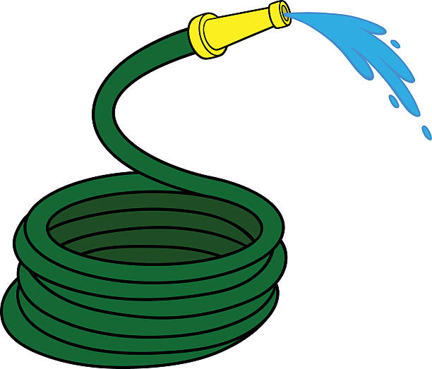garden water hose vector art illustration - Garden Hose