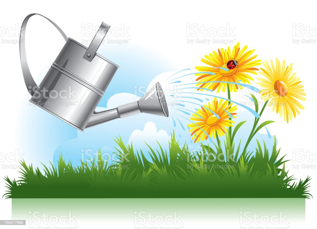 garden watering royalty-free garden watering stock vector art & more images of agriculture