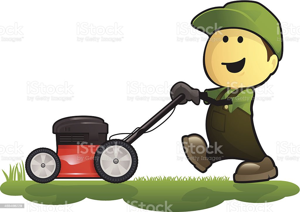 Gardener and Lawn Mower royalty-free gardener and lawn mower stock vector art & more images of adult
