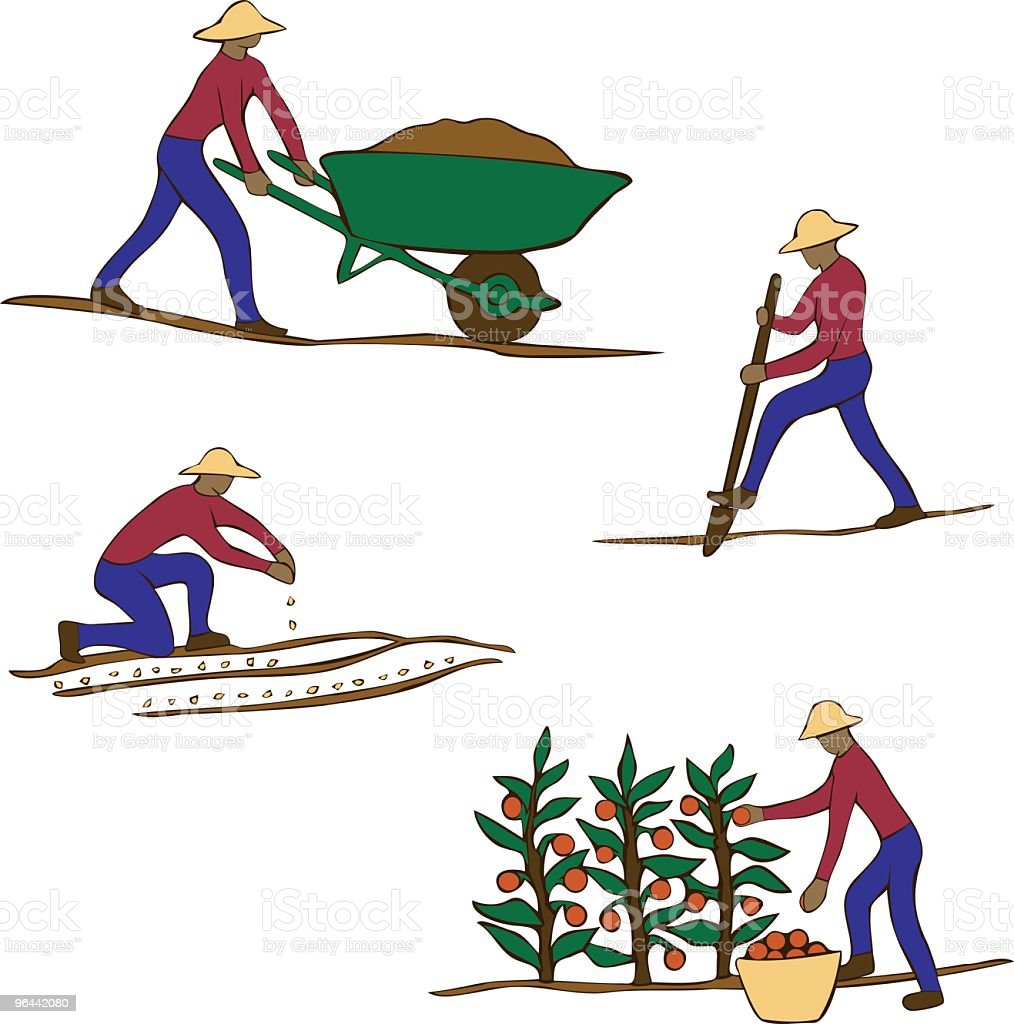 Jardineiro Clip Art - Vetor de Agricultor royalty-free