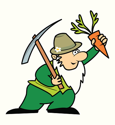 Gardener, used pickaxes and carrots.
