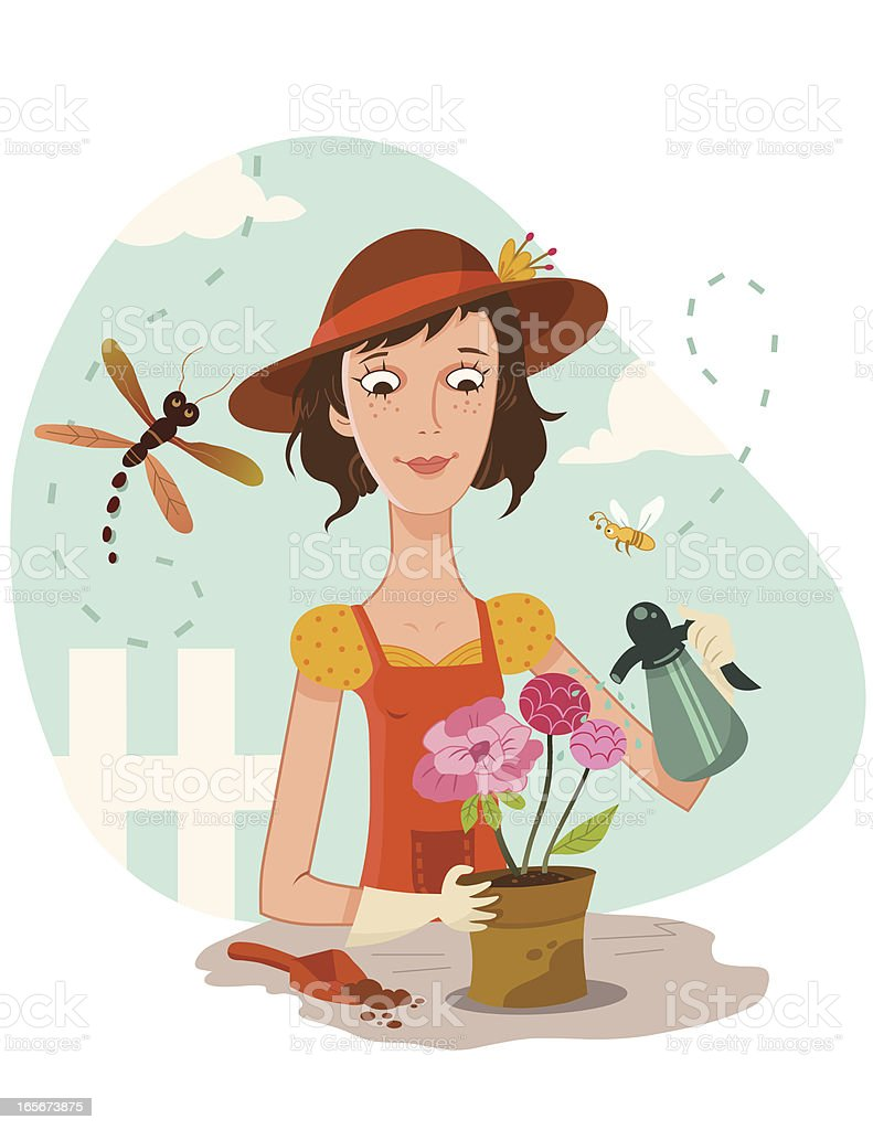 Gardener royalty-free gardener stock vector art & more images of adult